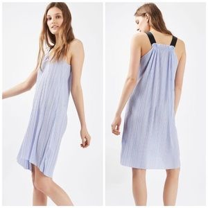 Topshop Pleated Lilac Midi Slip Dress